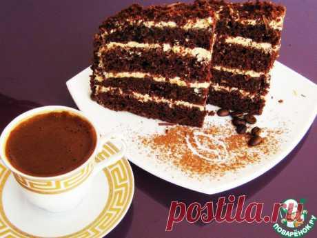 Торт кофейно-шоколадный - очень большой шоколадный, красивейший, аппетитный и манящий!