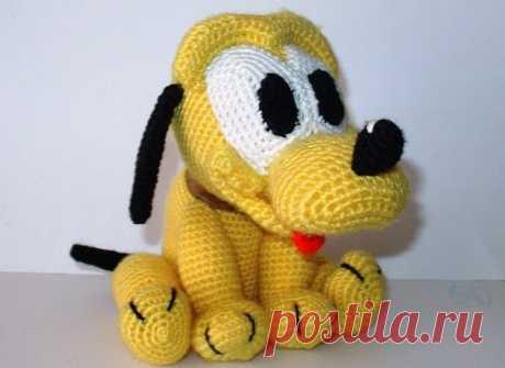 Детская игрушка «Плуто» — Попкорн — детское вязание спицами и крючком