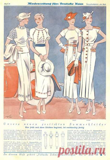 Белые летние платья с вышивкой