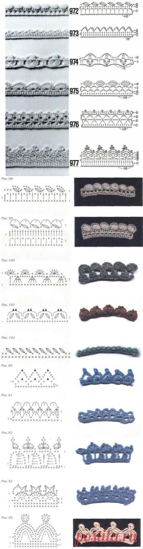Декоративная обвязка края изделия крючком - olga_tarasik