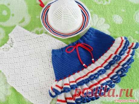 Морской костюмчик для крошки-принцессы - Вязание - Страна Мам