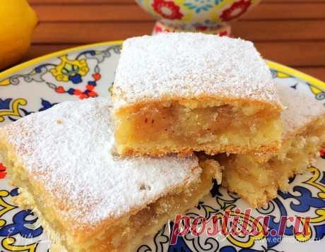 Лимонный пирог. Ингредиенты: дрожжи свежие, ванилин, молоко