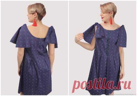 Синее платье с якорями сарафан – купить на Ярмарке Мастеров – LQD10RU | Сарафаны, Москва