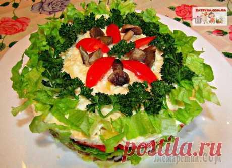 Постный слоеный салат с грибами и помидорами Постный слоеный салат с грибами и помидорами получается ярким, вкусным и сочным. Этот салат к тому же сытный, может заменить полноценный приём пищи, подходит для постящихся и вегетарианцев.Ингредиенты...
