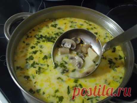 Сырный суп с грибами и курицей. https://leoanta.ru/ - YouTube