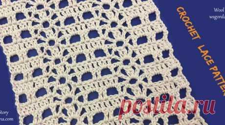 DIY Вязание крючком легкий кружевной узор / шерстяной сюжет от Gordana