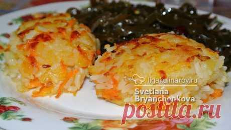 Картофельно-рисовые постные котлеты – рецепт с фото от Лиги Кулинаров, пошаговый рецепт