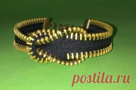 Bracelet from a zipper (video Diy) \/ Ornament and costume jewelry \/ Second Street