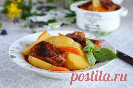 Картошка с копчеными ребрышками рецепт с фото пошагово и видео - 1000.menu