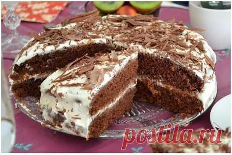 """Шоколадный Торт на КЕФИРЕ """"Сладкий сон"""" - interesno.win Очень люблю есть по субботам этот пирог! Он просто волшебный! ИНГРЕДИЕНТЫ: Для..."""
