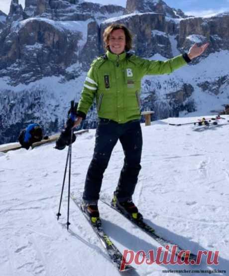 Максим Галкин решил научить шестилетних Гарри и Лизу кататься на горных лыжах | Краше Всех