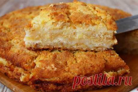 Необыкновенно сочный и нежный яблочный пирог «Три стакана»
