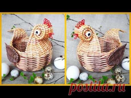 ¡La gallinita de Pascua de los hojaldres de papel! ¡Detallado MK! ¡1 variante!