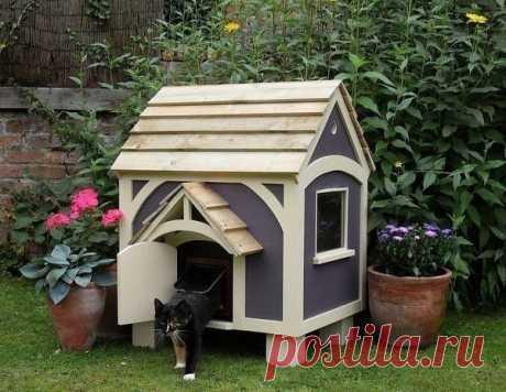 Маленький домик для котика