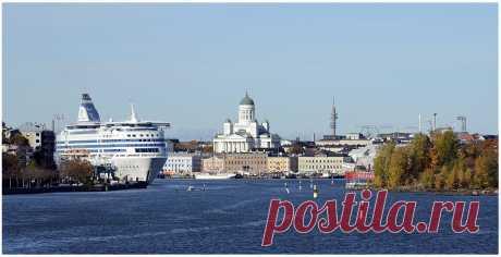 Вид на Хельсинки с Черного острова крепости Свеаборг