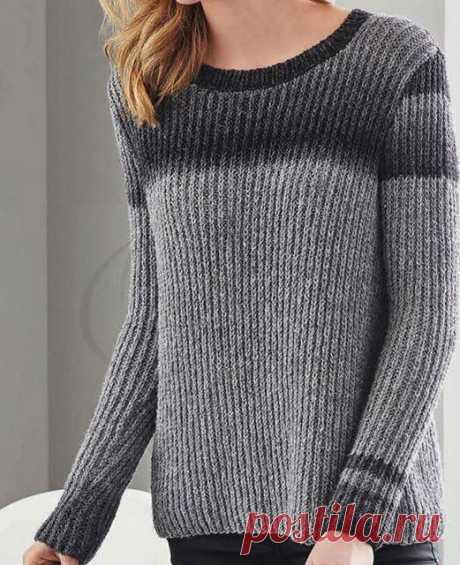 Пуловер полупатентной резинкой спицами – 5 схем с описанием, видео — Пошивчик одежды