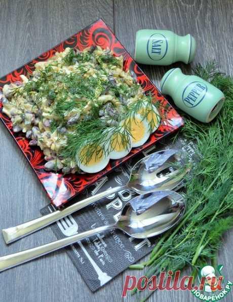 Салат с фасолью и жареными кабачками – кулинарный рецепт