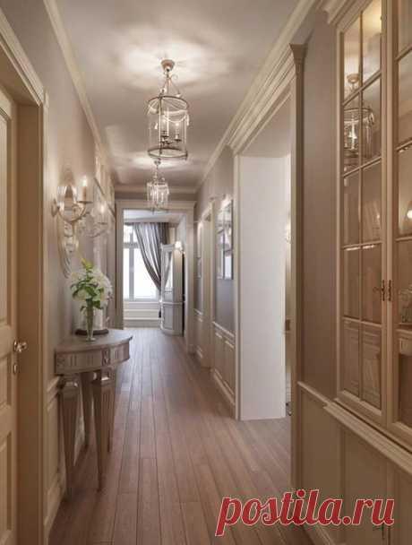 Удивительный интерьер трехкомнатной квартиры
