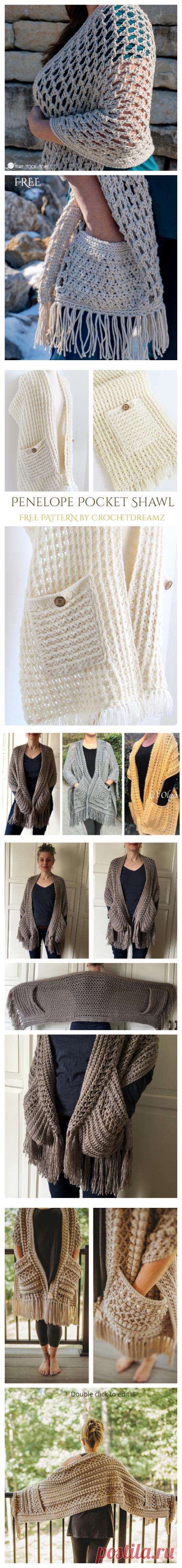 16 Reader's Pocket Wrap Shawl Free Crochet Patterns & Paid - DIY Magazine