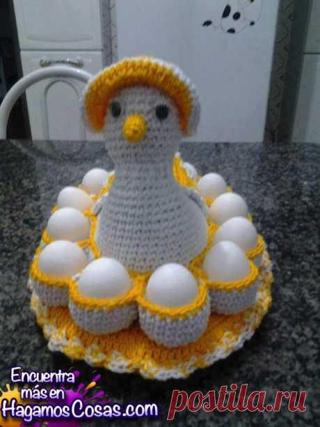 Вязание крючком Куриное яйцо: шаг за шагом. - Давайте делать вещи