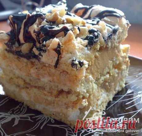 """Торт """"Воздушный сникерс"""" - пошаговый рецепт с фото на Готовим дома"""
