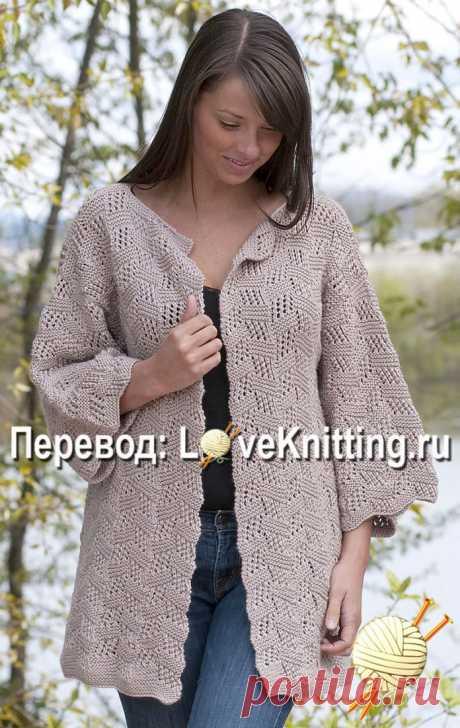 Elegant cardigan | Loveknitting.ru