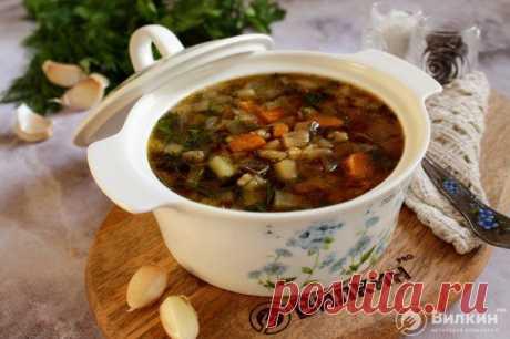 Овощной суп с баклажанами