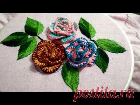 Бразильская вышивка МК
