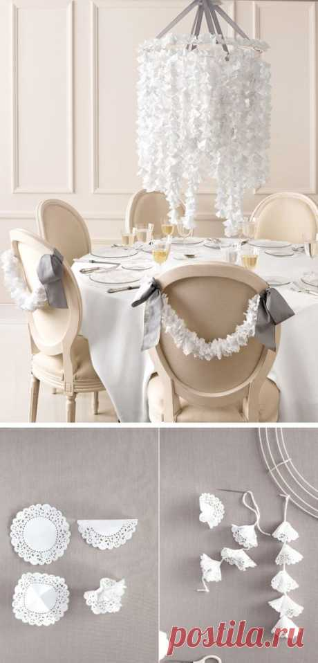 (4) Learn how to make this chandelier out of paper doilies #diy | To Craft or Not to Craft