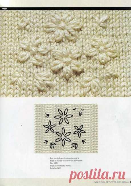 Как красиво украсить вязаную вещь вышивкой. | Вяжу для души | Яндекс Дзен