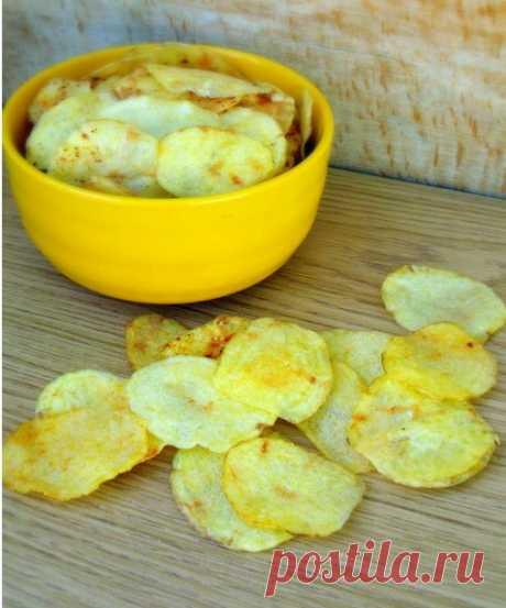 Картофельные чипсы за 10 минут