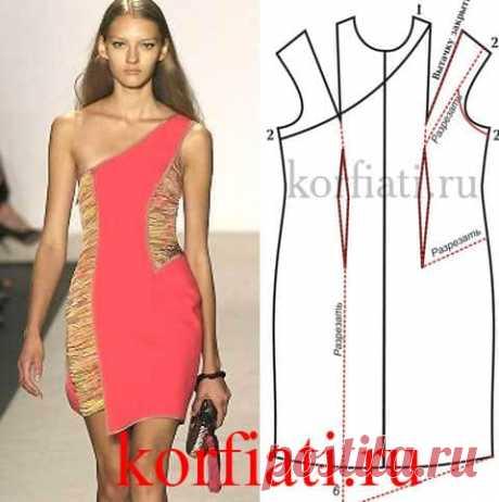 Выкройка летнего платья от Анастасии Корфиати Это стильное летнее платье - на пике моды. Коралловый цвет в сочетании с песочными оттенками будут очень популярны этим летом. Выкройка летнего платья...
