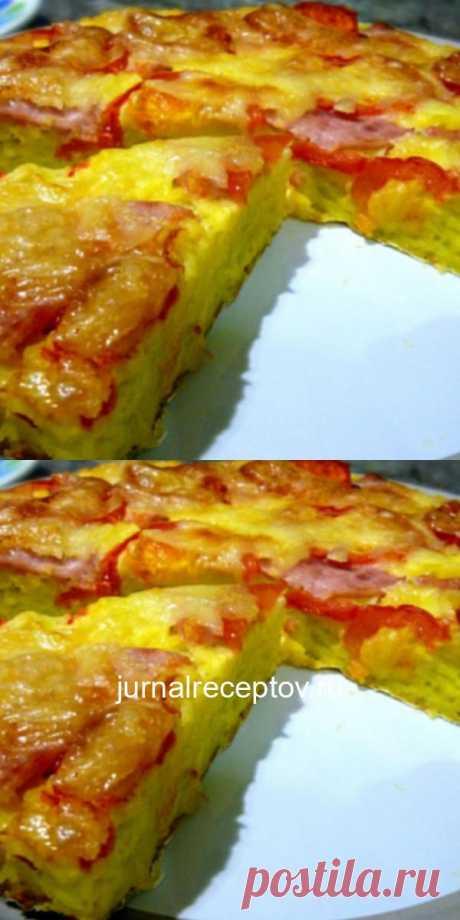 Вкуснотища необыкновенная! Румяный и пышный кабачковый пирог - запеканка: хочется готовить его чаще пока сезон!