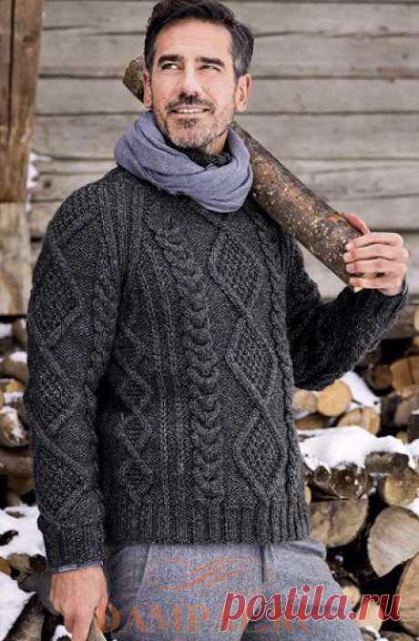 Теплый мужской свитер «Vosges» — HandMade