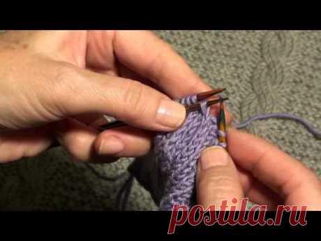 """Вязание для начинающих. Декоративное убавление петель. Школа  вязания """"Шерстяные истории"""""""