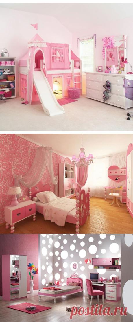 Дизайн спальни для девочки: идеи .
