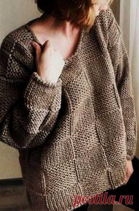 Пуловер оверсайз описание (Вязание спицами) – Журнал Вдохновение Рукодельницы