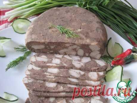 Мясо пресованое в чулке