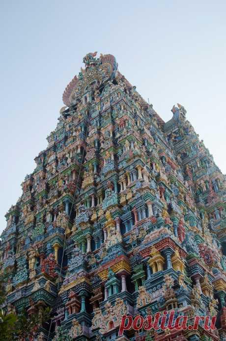 Удивительный, потрясающий, невероятный храм Минакши Амман (Индия)