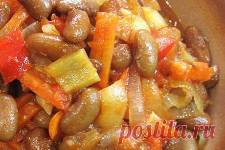 Овощное рагу с фасолью рецепт – европейская кухня, веганская еда: салаты. «Еда»