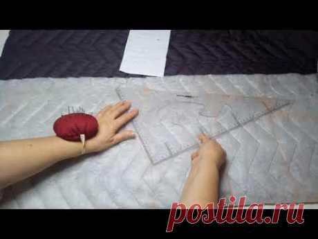 Как сшить пальто из стеганой ткани с утеплителем без выкройки. Часть 1 КРОЙ
