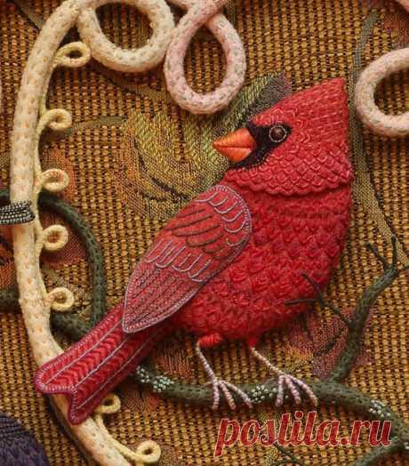 Изумительные птицы, секреты Salley Mavor | Рукоделие