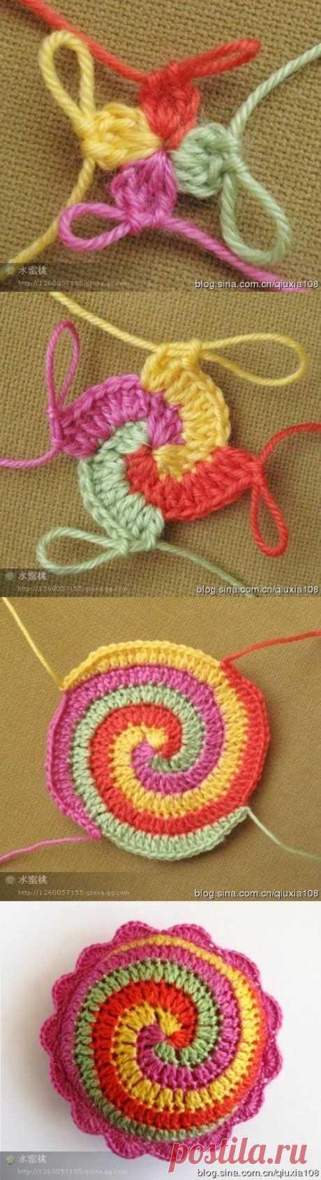 Спираль крючком