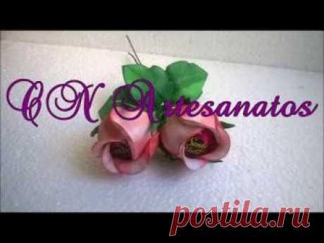 Букет из розового бутона с беконом
