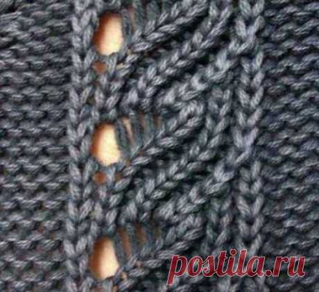 Симпатичная ажурная дорожка, пригодится для вязания нарядных вещей.