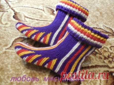 """Boots spokes from L. Myasnikova\"""" the Thread - knitted things for your house, knitting by a hook, knitting by spokes, schemes of knitting"""