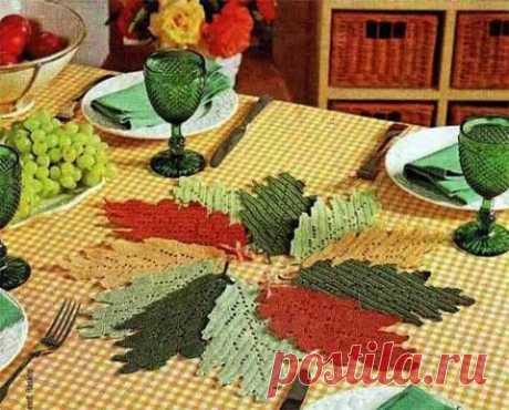 Листья в филейной технике