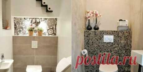 Как оформить стену за унитазом Туалетная комната — это такая же часть дома, как и остальные помещения. Она должна быть и функциональной, и эстетически красивой.Кафель от потолка до потолка будет выглядеть опрятно, но банально. Пред...