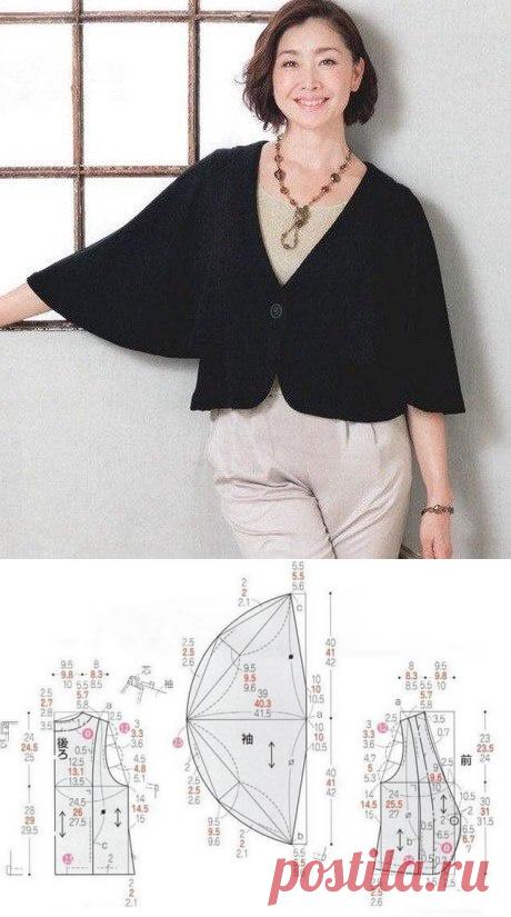 Блузка с летучими рукавами / Простые выкройки / ВТОРАЯ УЛИЦА - Выкройки, мода и современное рукоделие и DIY