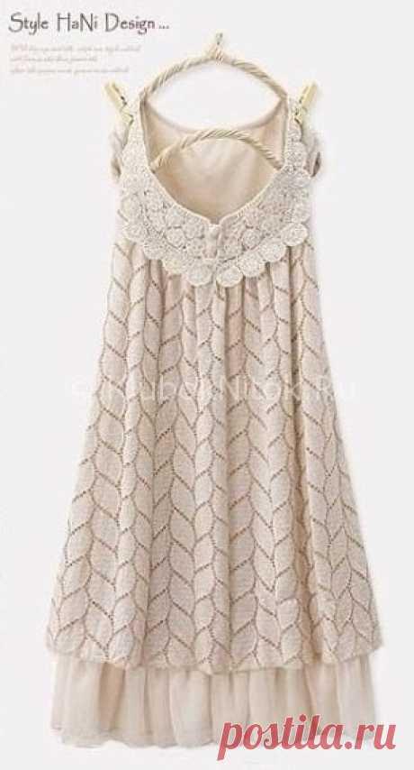 Платье в стиле Хани | Вязание для женщин | Вязание спицами и крючком. Схемы вязания.